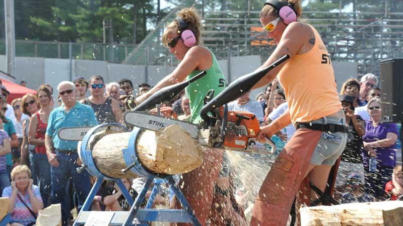 Axe Women Loggers of Maine